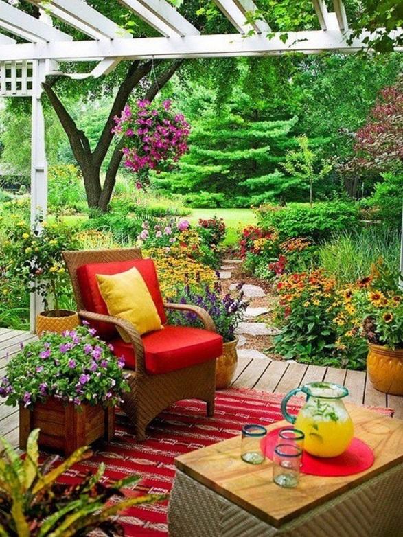 Уютный сад-как обустроить