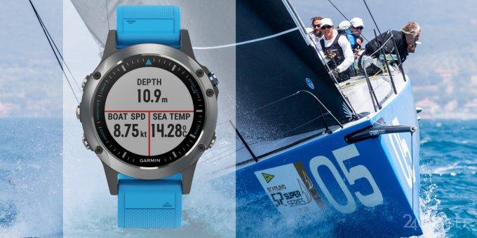 Smart watch for the sailors and fishermen Garmin quatix 5 (5 photos + video)