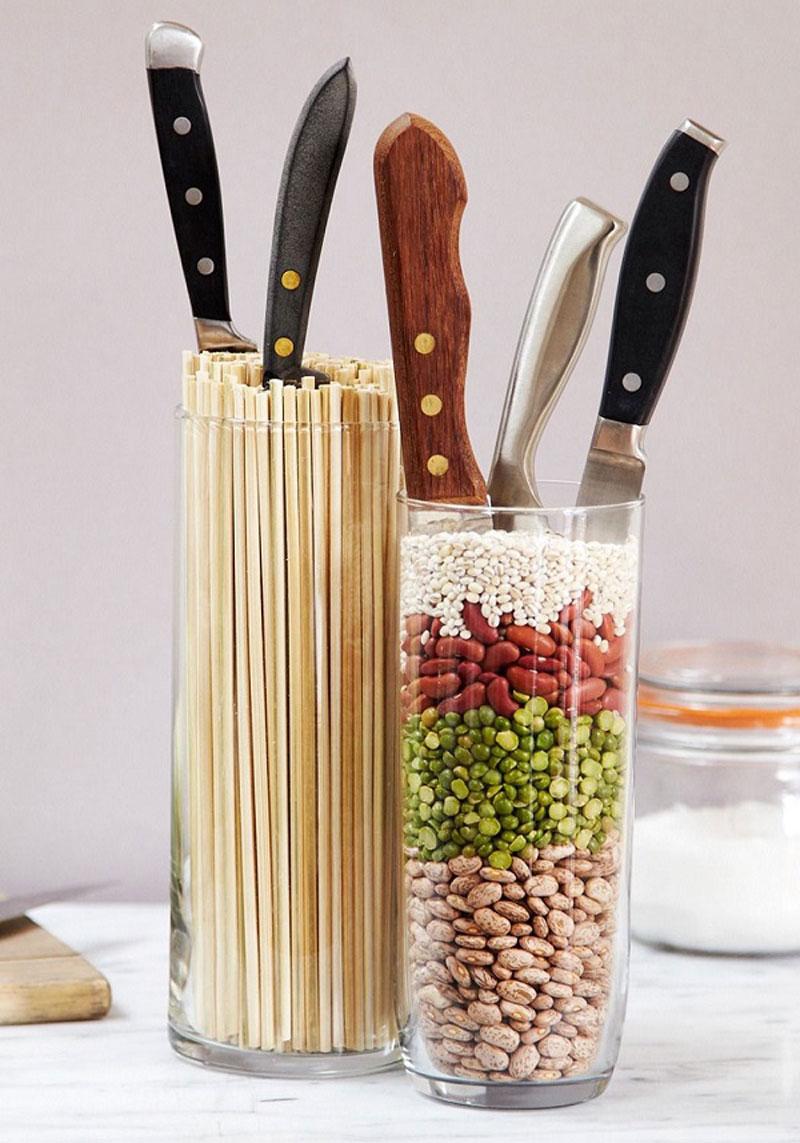 Ножи в интерьере-креативные решения