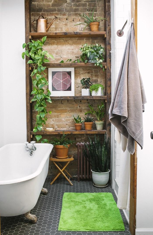 Greenery в интерьере-текстиль коврик для ванной