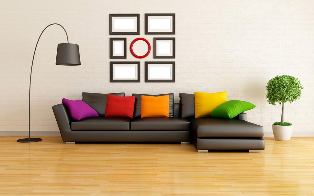 Яркие подушки в современном интерьере-фото 2