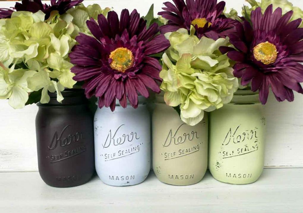 Окрашенные вазы для цветов-фото 4