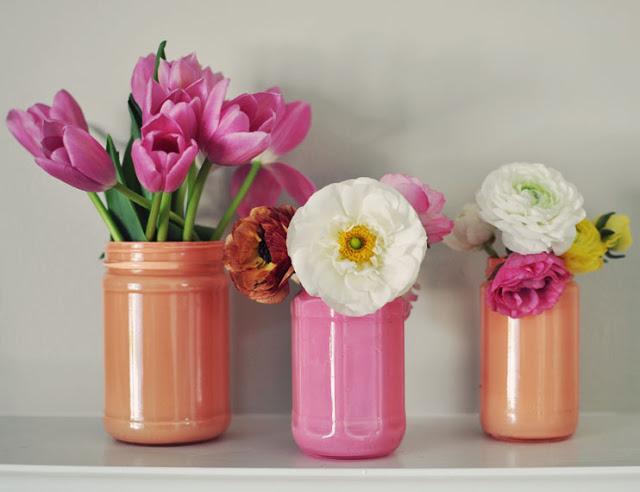 Окрашенные вазы для цветов-фото 2