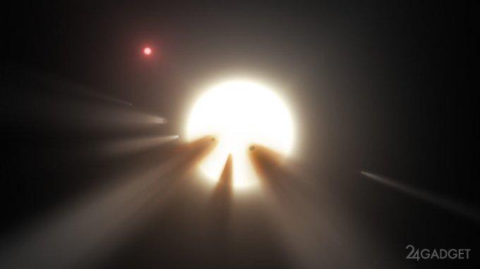 Звезда Табби снова таинственно мерцает (2 фото + видео)