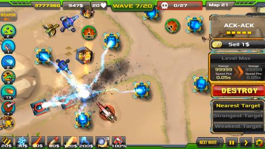 Топ-10 приложений для iOS и Android (1 - 7 мая) - Tower Defense. Alien War TD (1)