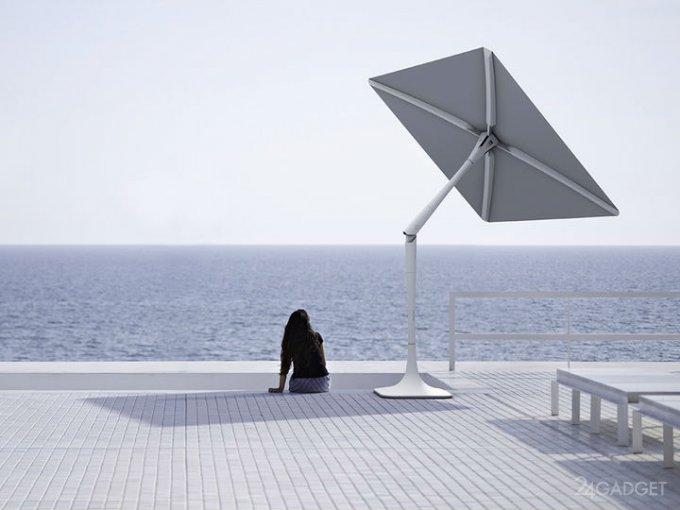 Umbrella to help You or smart sun protection (2 videos)