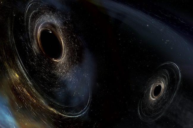 The third detection LIGO shown as double black holes