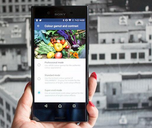 Sony Xperia XZ Premium-цветопередача