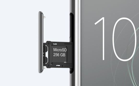 Sony Xperia XZ Premium-возможность расширения встроенной памяти