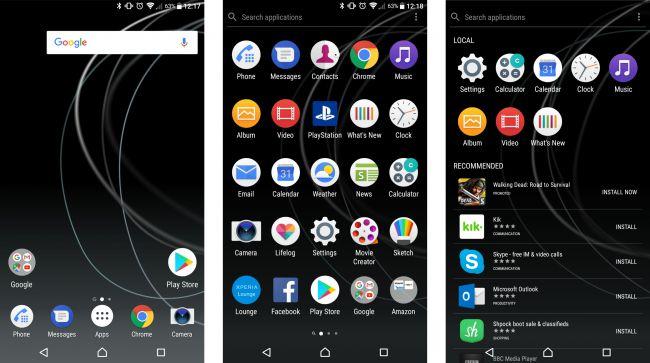 Sony Xperia XZ Premium-интерфейс скриншот 1