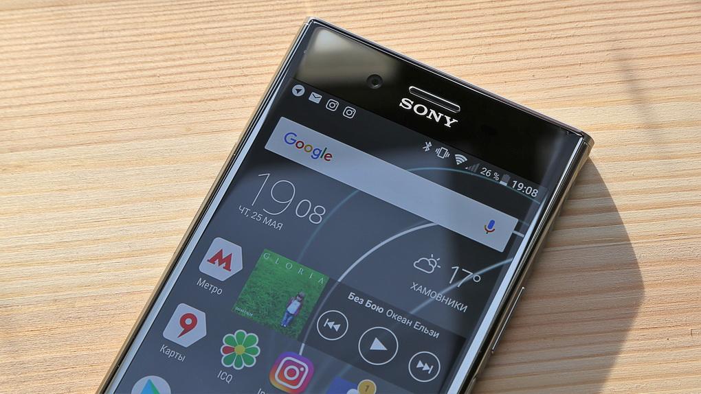 Sony Xperia XZ Premium-экран фото 2