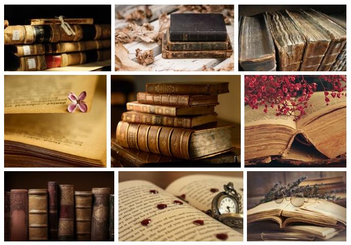 Старые книги-коллаж