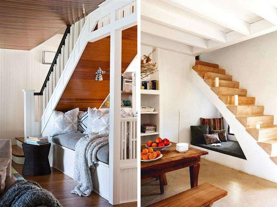 Зона для чтения-под лестницей