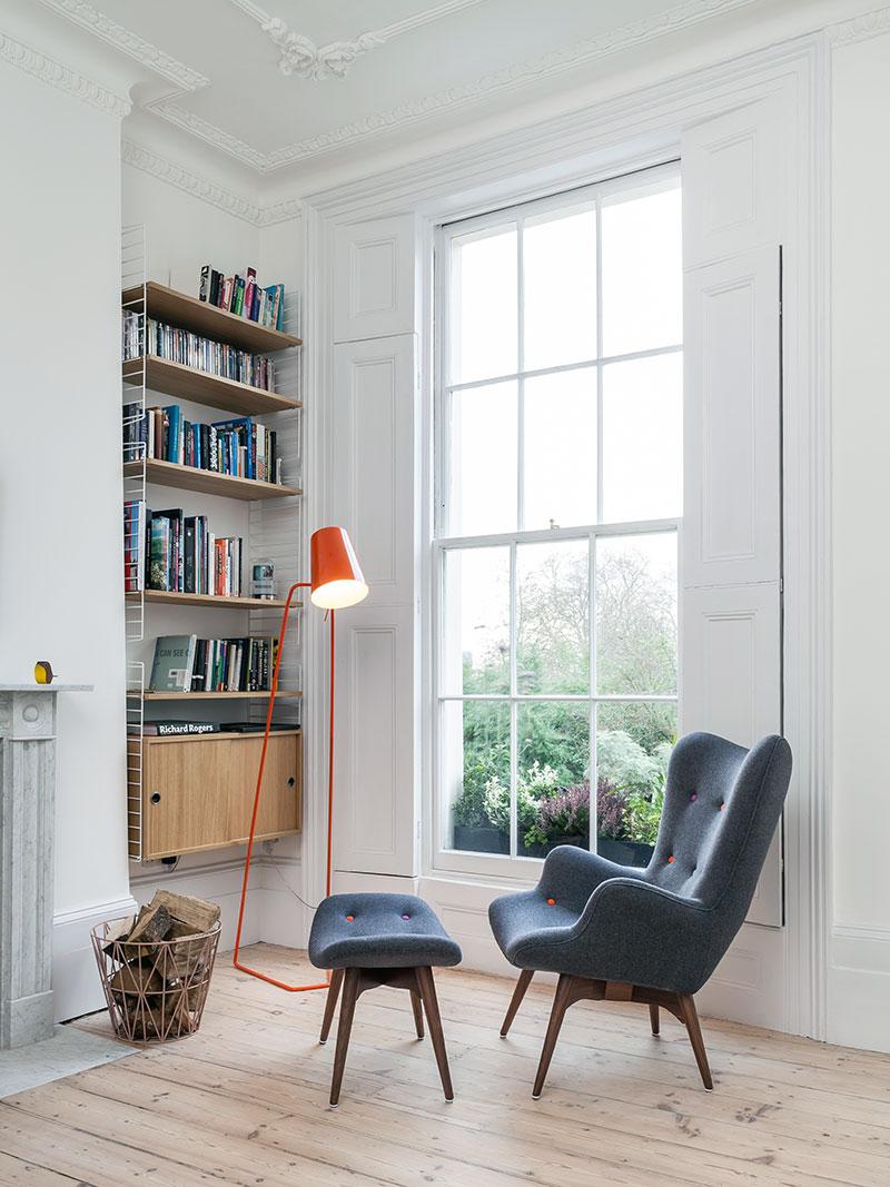 Зона для чтения-искусственный свет