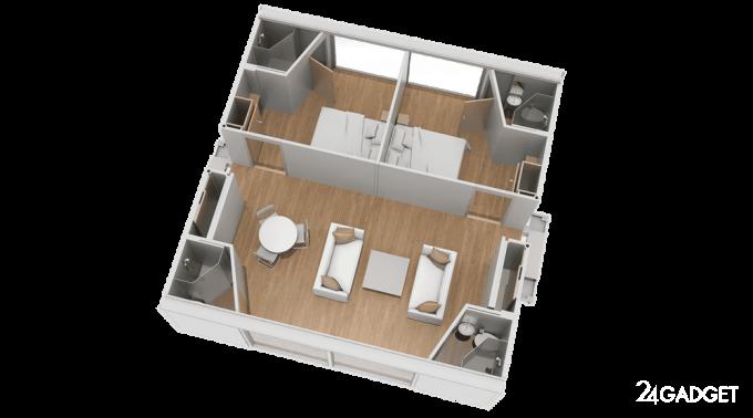 Мобильный саморазворачивающийся дом (30 фото + 2 видео)