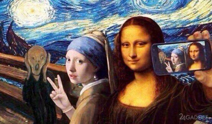 14368 Selfie cause damage to modern art (3 photos + video)