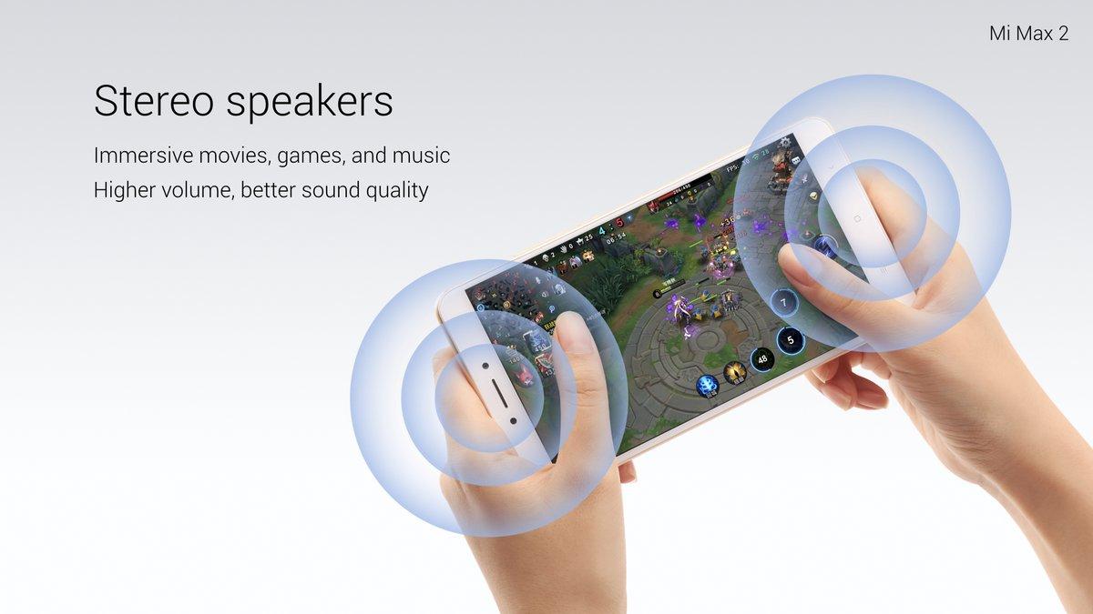 Xiaomi Mi Max 2-стереодинамики