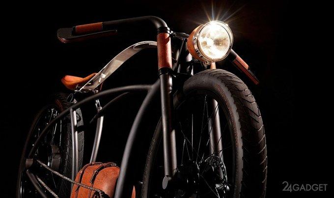 E-bike in retro style (8 photos + video)