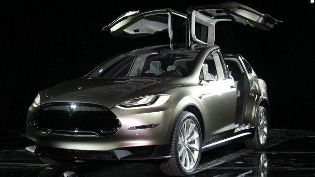 Tesla Model X fell