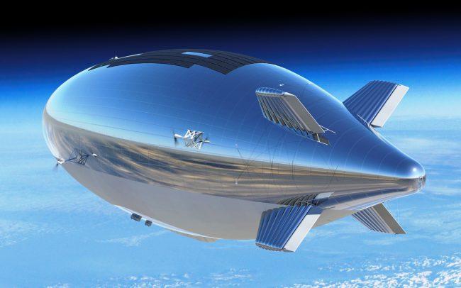Trading network Wal-Mart warehouse patented airship