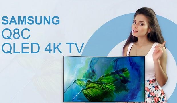 Video 4K Samsung TV QE55Q8C