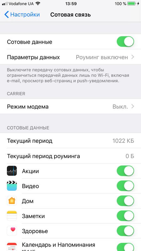 Полный обзор iOS 11 – Настройки — Сотовая связь