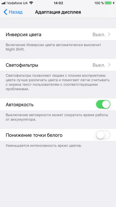 Полный обзор iOS 11 – Настройки — Адаптация дисплея
