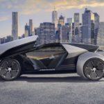 18223 Future Jaguar-Type — Autonomous electric car with a removable smart wheel