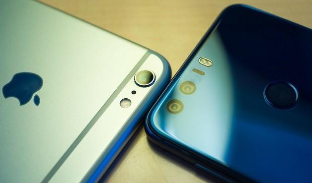Huawei was ahead of Apple in sales of smartphones