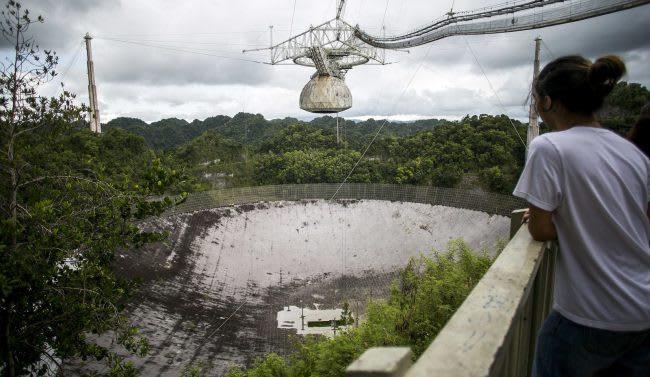 "Hurricane ""Maria"" seriously damaged the famous radio telescope, ""Arecibo"""