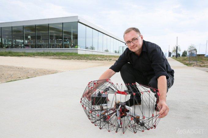 Защищенный дрон в оболочке, имитирующей оригами (10 фото + видео)
