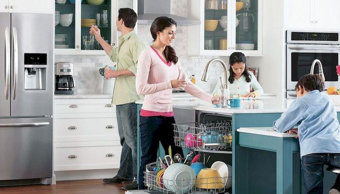 Стиль и удобство частично встраиваемая посудомоечная машина – Сколько вмещает посуды посудомоечная машина