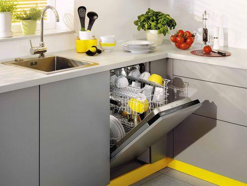 Стиль и удобство частично встраиваемая посудомоечная машина – Посудомойка в интерьере кухни