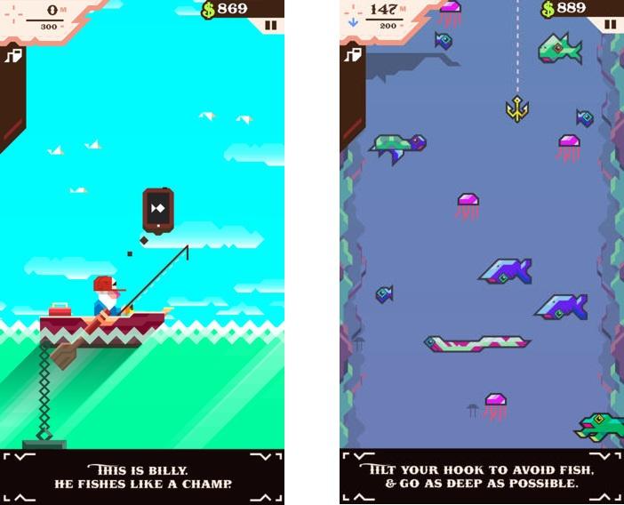 Топ-10 приложений для iOS и Android (23 - 29 января) - Ridiculous Fishing (1)