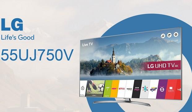 Video review 4K TV LG 55UJ750V