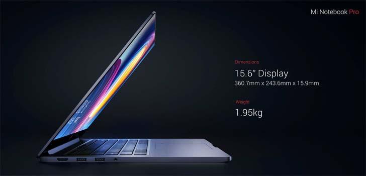 Xiaomi представила 15,6-дюймовый ноутбук Mi Notebook Pro – фото 2