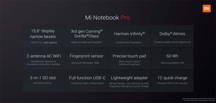 Xiaomi представила 15,6-дюймовый ноутбук Mi Notebook Pro – фото 3
