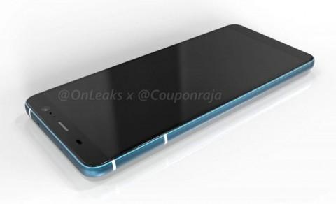 Appearance HTC U11 Plus revealed on CAD render