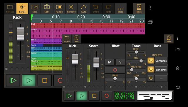 Лучшие Android-приложения для гитаристов - Audio Evolution Mobile Studio