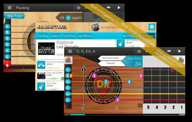 Лучшие Android-приложения для гитаристов - Jamstar Acoustics-Learn Guitar