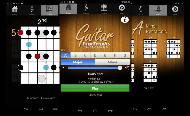 Лучшие Android-приложения для гитаристов - Guitar Jam Tracks. Scale