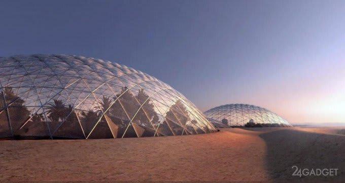 Dubai will build a Martian city in the desert (4 photos)