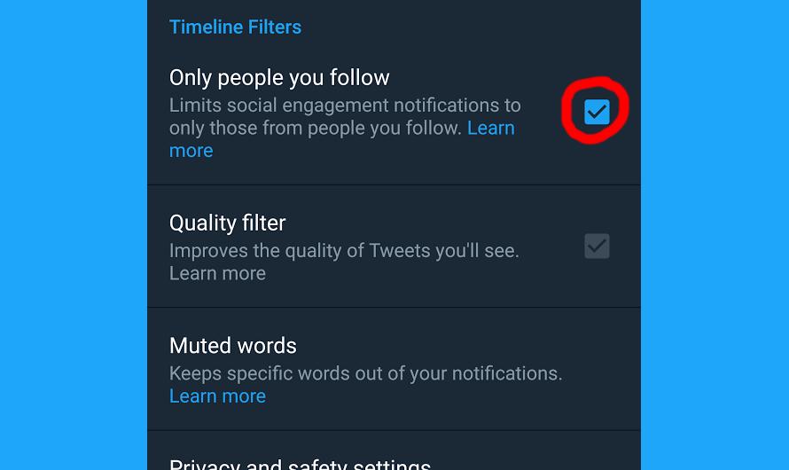 15 советов по использованию Твиттера - получение уведомлений