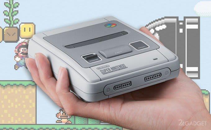 New retro console SNES Mini already hacked (2 photos)