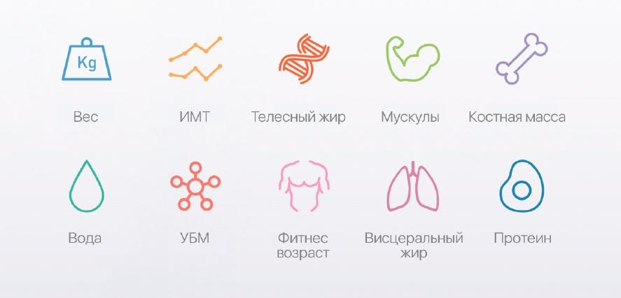 YUNMAI Mini Smart Scale-контроль 10 диагностических параметров тела