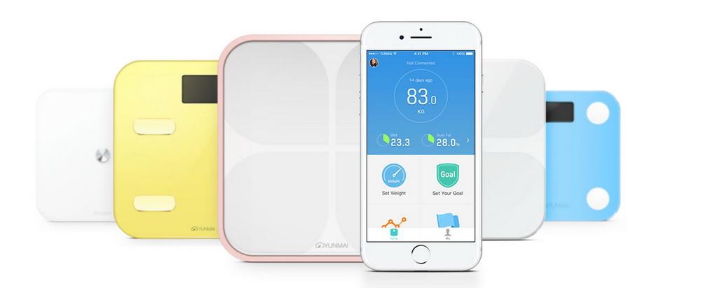YUNMAI Mini Smart Scale-cинхронизация с устройствами