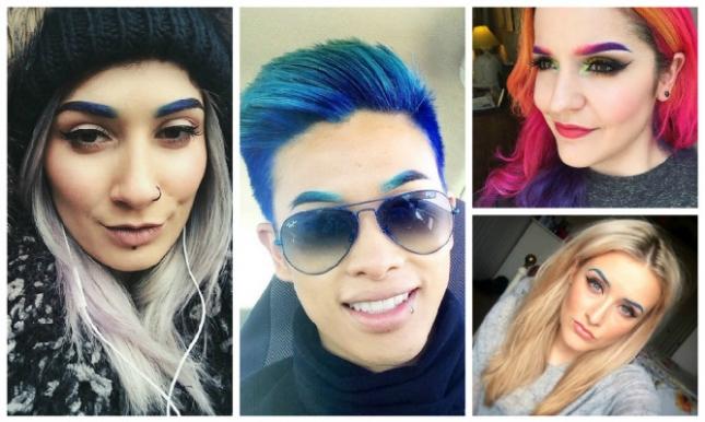 Цветные брови-работы креативщиков-экспериментаторов