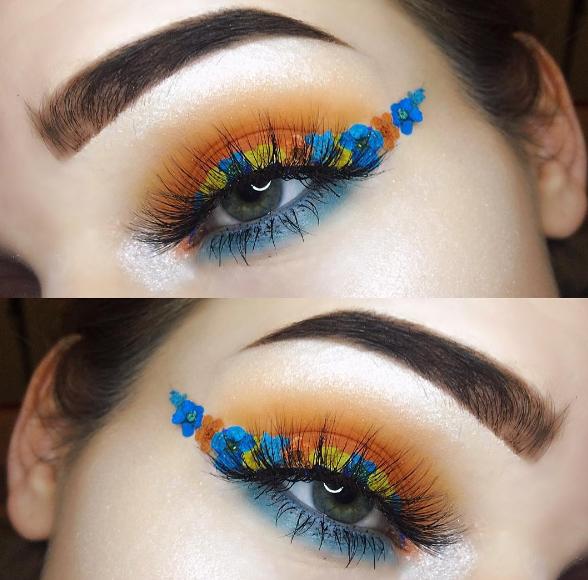 Makeup-тренды в Instagram-цветочные стрелки