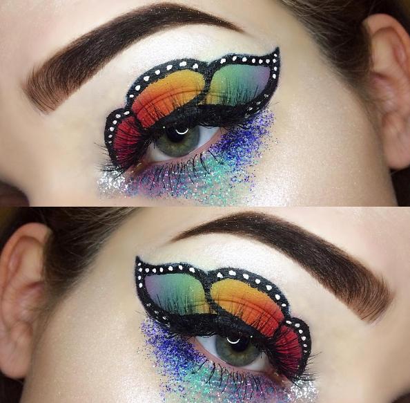 Makeup-тренды в Instagram-крылья бабочки на глазах
