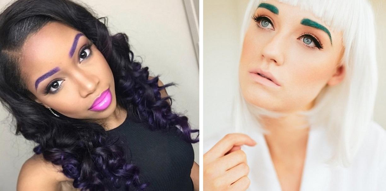 Яркие цветные брови-работы креативщиков-экспериментаторов тренды в Instagram фото 2
